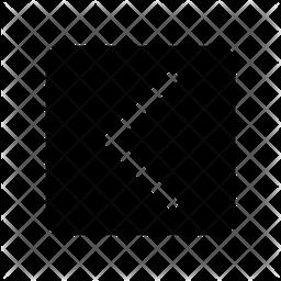 Chevron Left Glyph Icon