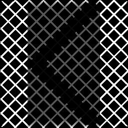 Chevron Left Arrow Glyph Icon