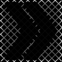Chevron Right Glyph Icon