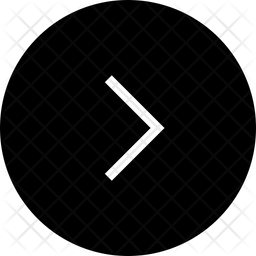 Chevron Right Arrow Glyph Icon