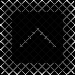 Chevron Up Glyph Icon