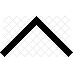 Chevron Up Arrow Glyph Icon