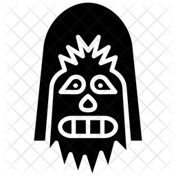 Chewbacca Glyph Icon