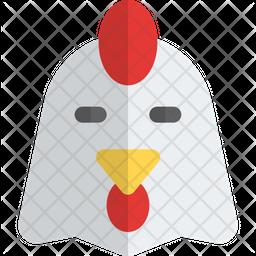 Chicken Closed Eyes Gradient  Emoji Icon