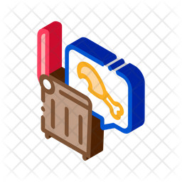 Chicken Food Isometric Icon