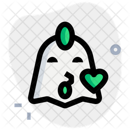 Chicken Kiss Colored Outline  Emoji Icon