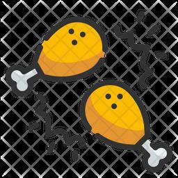 Chicken Leg Piece Icon