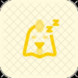 Chicken Sleeping Emoji Icon