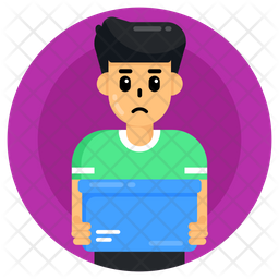 Child Delivery Boy Icon