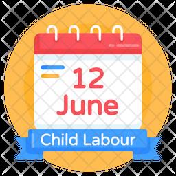 Child Labour Date Icon