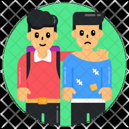 Child Labour Friends Flat Icon