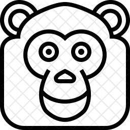 Chimpanzee Line Icon