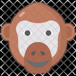 Chimpanzee Flat Icon