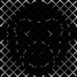 Chimpanzee Glyph Icon