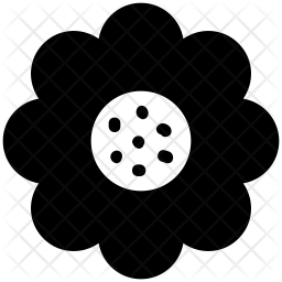 Chinese flower Glyph Icon