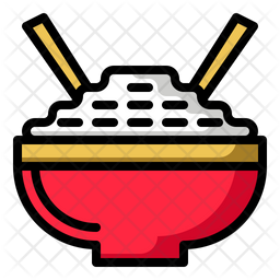 Chinese Rice Icon Of Colored Outline Style Available In Svg Png Eps Ai Icon Fonts