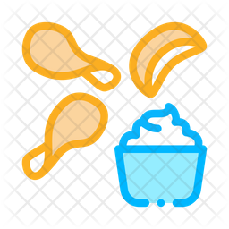 Chips Sauce Icon