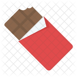 Chocolate Bar Bite Icon
