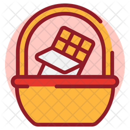 Chocolate Basket Colored Outline Icon