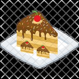 Chocolate Cake Slice Icon