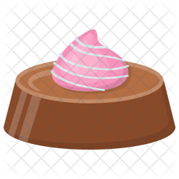 Chocolate Mousse Cake Icon