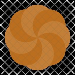 Chocolate spritz cookie Icon