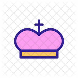 Christian Crown Icon Of Colored Outline Style Available In Svg Png Eps Ai Icon Fonts