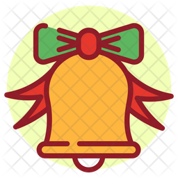 Christmas Bell Colored Outline Icon
