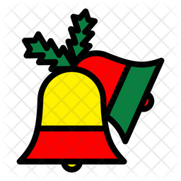 Christmas Bell Icon Of Colored Outline Style Available In Svg Png Eps Ai Icon Fonts