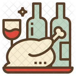 Christmas dinner Icon