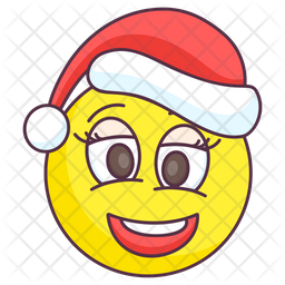 Christmas Laugh Colored Outline  Emoji Icon