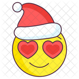 Christmas Love Emoji Colored Outline  Emoji Icon