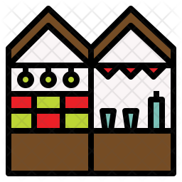 Christmas Market Icon
