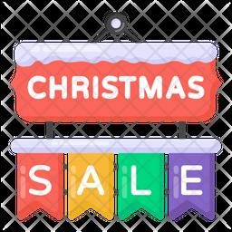 Christmas Sale Flat Icon