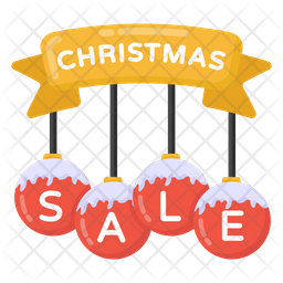 Christmas Sale Sign Flat Icon