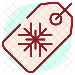 Christmas Tag Colored Outline Icon