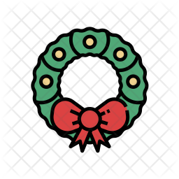 Christmas Wreath Icon Of Colored Outline Style Available In Svg