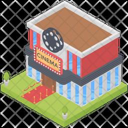 Cinema Theatre Isometric Icon