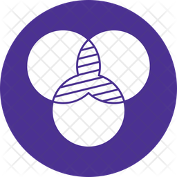 Circles Intersection Icon