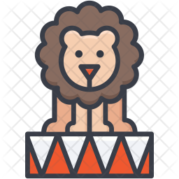 Circus Lion Icon