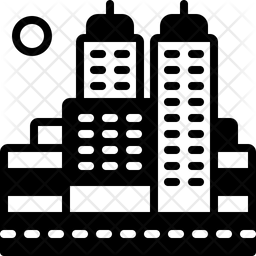 City Icon Of Glyph Style Available In Svg Png Eps Ai Icon Fonts