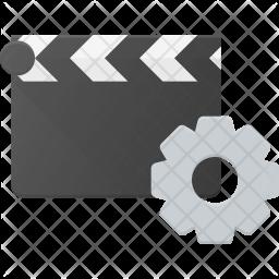 Clapper setting Flat Icon
