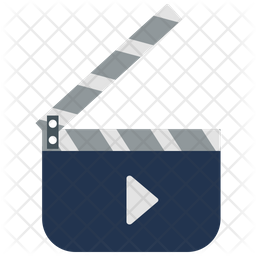 Clapperboard with play sign Icon