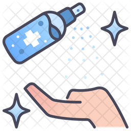 Clean hand Colored Outline Icon
