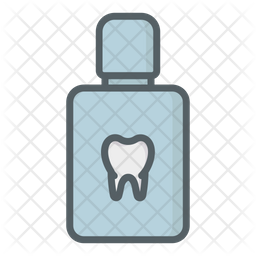 Clean Teeth Colored Outline Icon