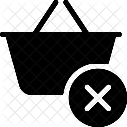 Clear basket Glyph Icon