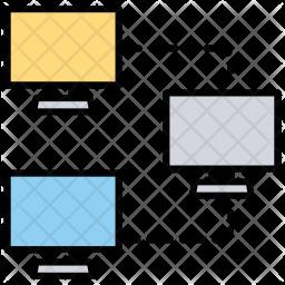 Client Server Model Icon