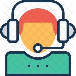 Client Support Colored Outline Icon