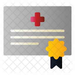 Clinic Certificate Icon