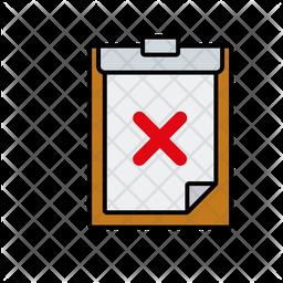 Clipboard failure Icon